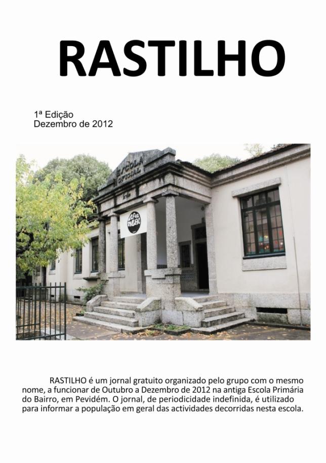 capa do jornal Rastilho